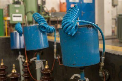Odběry vzorků olejů z transformátoru